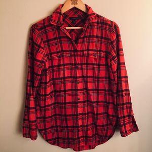 J. Crew Flannel Plaid Button Down Shirt